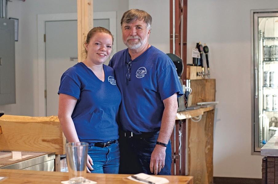 Allan MacDonald (right) of Next Trick Brewing with daughter Ann - HANNAH PALMER EGAN