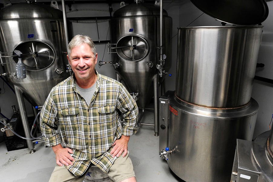 John Morris in the Cousin's Brewery which recently opened in the basement of Waitsfield BBQ joint, Localfolks Smokehouse. - JEB WALLACE-BRODEUR