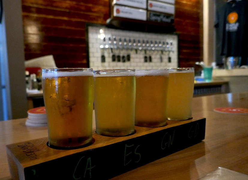 A flight of beer at Simple Roots - ANDREA SUOZZO
