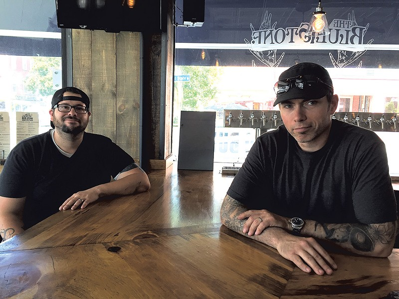 Vinny Petrarca (left) and Chris Fish at the Blue Stone - SALLY POLLAK