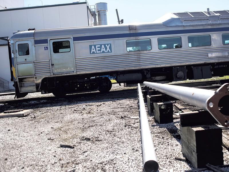 AllEarth Rail's rail diesel car in St. Albans - TIMOTHY SANTIMORE