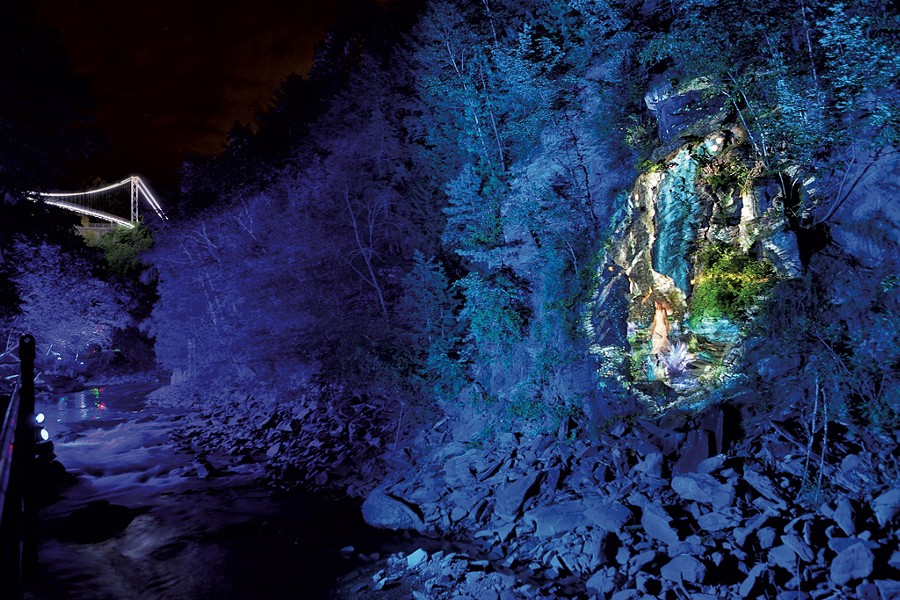 Cliffside projection at ForestaLumina - COURTESY OF  FORESTA LUMINA