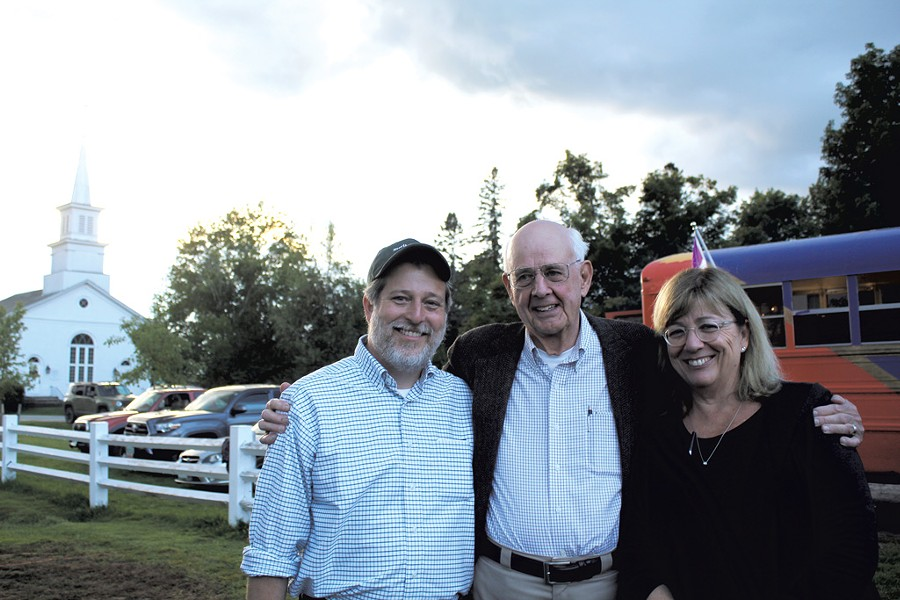 Left to right: Matthew Derr, Wendell Berry and Mary Berry - COURTESY OF LOU LEPPING FOR STERLING COLLEGE