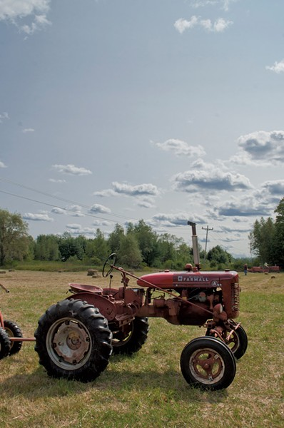 A tractor at the Connecticut River Antique Collectors Klub's annual show - HANNAH PALMER EGAN