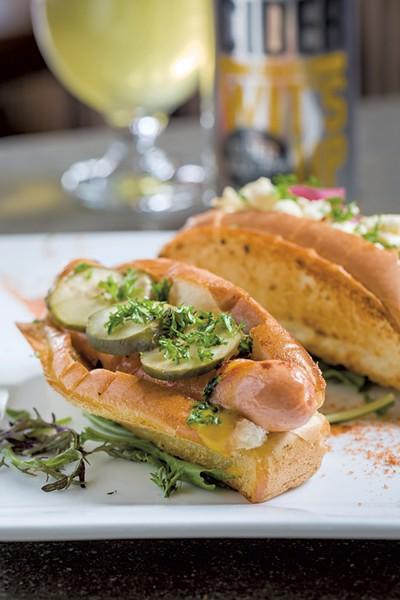 Hot dogs at Citizen Cider - OLIVER PARINI