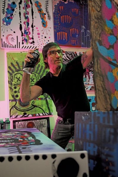 Burlington artist Frank DeAngelis - MATTHEW THORSEN