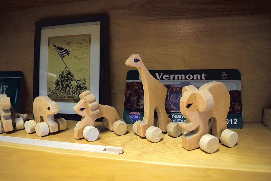 Wooden toys made by inmates - TERRI HALLENBECK