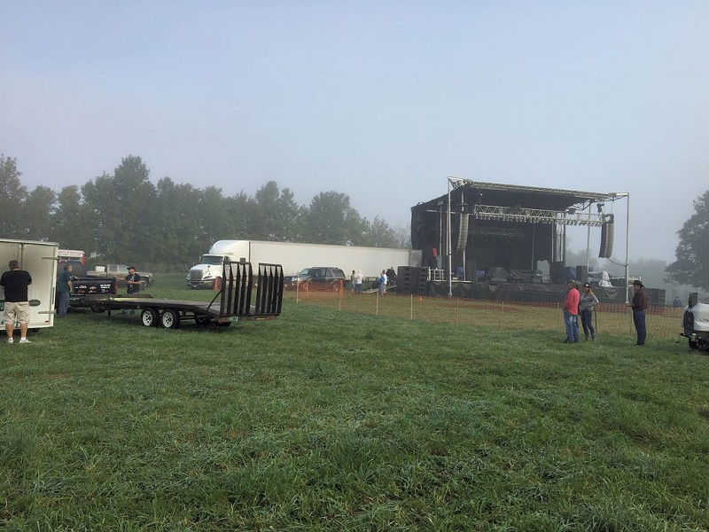 The concert field for Shrinedom 2017 in Irasburg - COURTESY OF BILL PRUE
