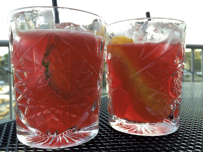 Weaver (left) and Abdon't cocktails - SALLY POLLAK