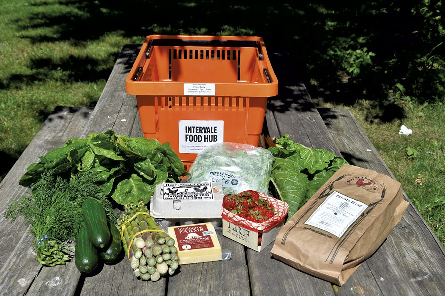 A selection of goods from one week's Intervale Food Hub share - COURTESY INTERVALE FOOD HUB