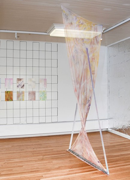 """Installation view of Michael Rocco Ruglio-Misurell's """"Enough to Divide a Room"""""""