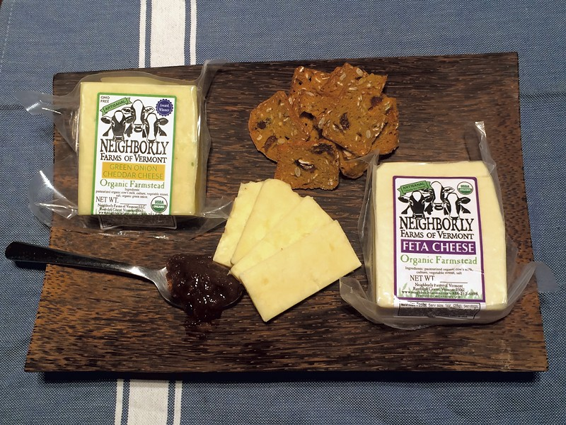 Neighborly Farms cheese with crackers and jam - MOLLY ZAPP