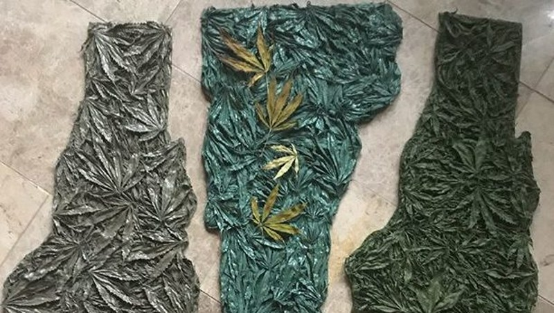 Examples of Julie Duquette's cannabis-inspired artwork
