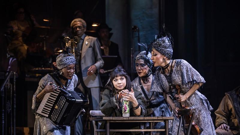 Eva Noblezada and the Broadway cast of 'Hadestown'