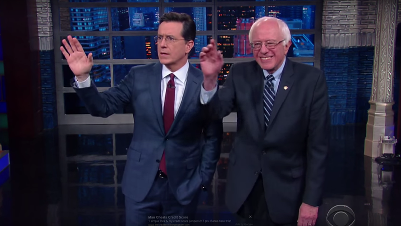 Bernie Bits: Sanders Drinks Beer on 'Colbert,' Eats Ice Cream on 'The View'