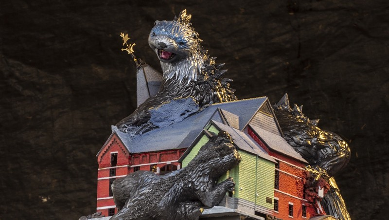 """""""Mutant Otters Destroy Town Hall Theater"""" by Daniel Houghton"""