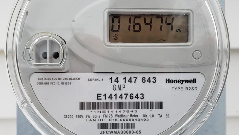 A Green Mountain Power meter.
