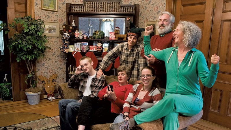 Actors in 'Family Holiday,' a 2017 Vermont Pride Theater production