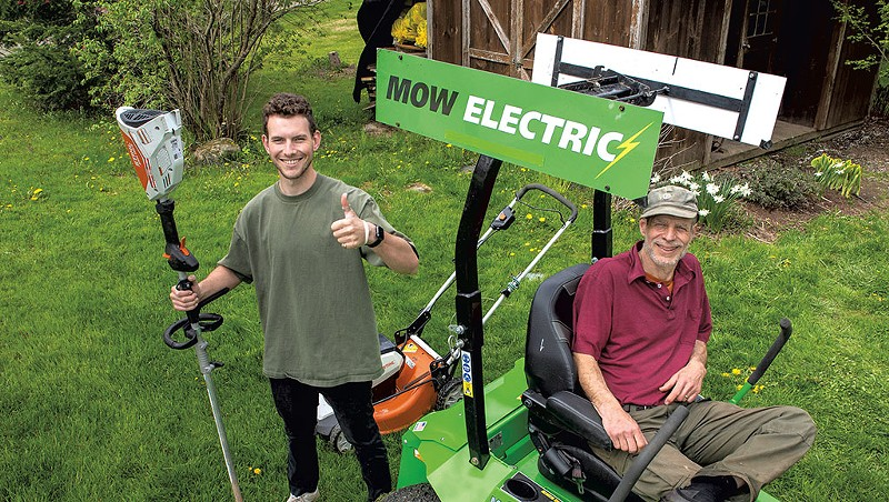 Mow Electric! Helps Vermonters Ditch Gas-Powered Lawn Equipment