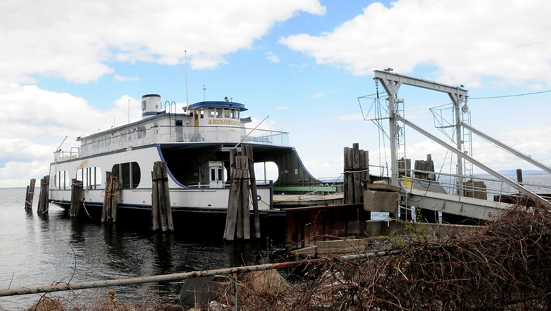 The retired ferry Adirondack in Port Kent, N.Y.