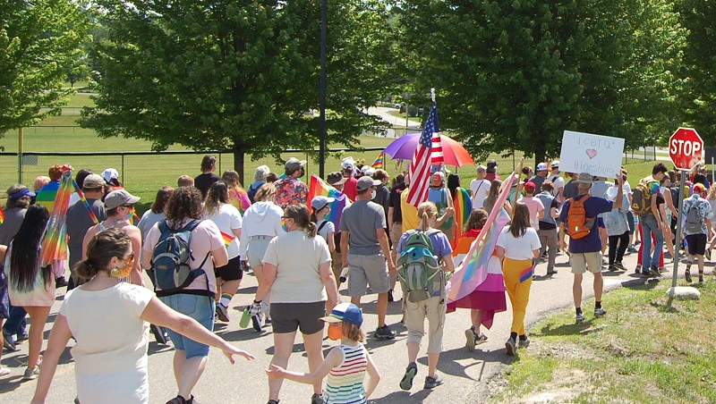 Students Lead the Way in Hinesburg's First-Ever Pride Parade