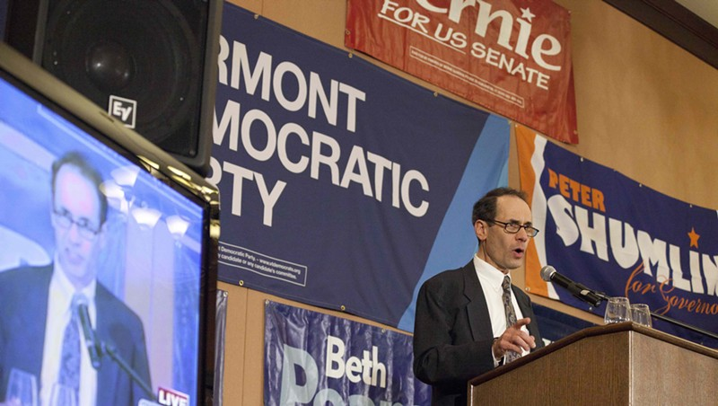 Dean Corren delivers a concession speech on election night in November 2014.
