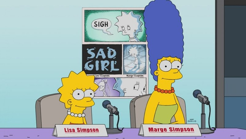 """Alison Bechdel Is One of Three Female Cartoonists Spoofed in """"The Simpsons"""""""