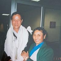 Passang Thondup Pasang Thondup and his wife Nima Bhuti reuniting in the U.S. in 1998 James Buck