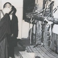 Passang Thondup The Dalai Lama visiting a Tibetan handicraft center in Shimla James Buck