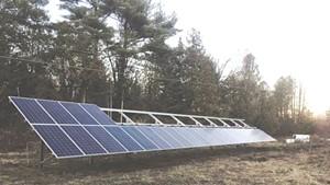 Solar panels at Bear Roots Farm
