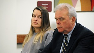 Jody Herring with her attorney, David Sleigh