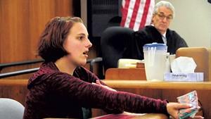 Tiffany Herring testifying in court