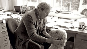Galway Kinnell and his dog