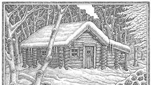 Cabin illustration by Mike Biegel