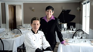 Chef Jevgenija Saromova (seated) and innkeeper Mara Mehlman