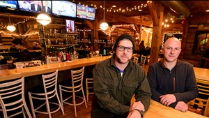 Owners Mark Frier (left) and Chad Fry at Tres Amigos in Stowe