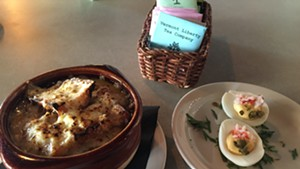 Onion soup at Allium in Waterbury.
