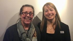 Elizabeth Bunsen (left) and Heather Ferrell