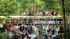 Campers at Zeno Mountain Farm