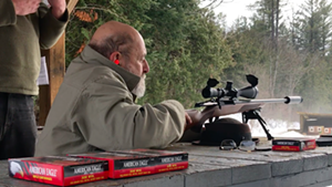Rep. Paul Lefebvre (R-Island Pond) at the Barre Fish & Game Club