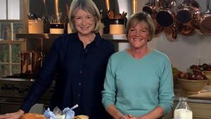 Allison Hooper (right) on Martha Bakes with Martha Stewart