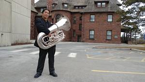 Yutaka Kono and his tuba