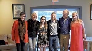 Left to right: Vivian Jordan, Noni Stuart, Carli Harris, Justin Gardner, Bill Pelton and Mary Scripps