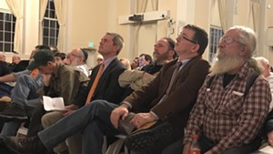 From left: Rob Roper of the Ethan Allen Institute, Bill Moore of the Vermont Traditions Coalition, Rep. Janssen Willhoit (R-St. Johnsbury) and Ed Cutler of Gun Owners of Vermont