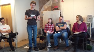 Workshop attendees, left to right:  Rivan Calderin, Alex Haag, Emma Haag, Rick Haag, Liz Mariani