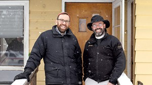 Rabbi David Fainsilber (left) and Rev. Rick Swanson