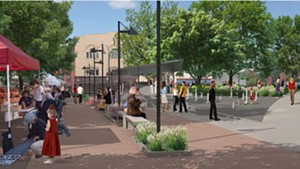 The planned City Hall Park central promenade