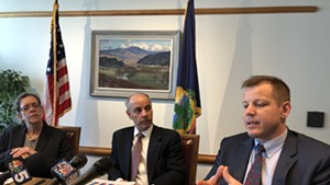 From left, Secretary of Administration Susanne Young, Commissioner of Finance and Management Adam Greshin and Commissioner of Taxes Kaj Samsom