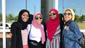 From left to right: Hawa Adam, Kiran Waqar, Balkisa Omar, Lena Ginawi