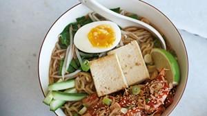 Kimchi-tofu ramen